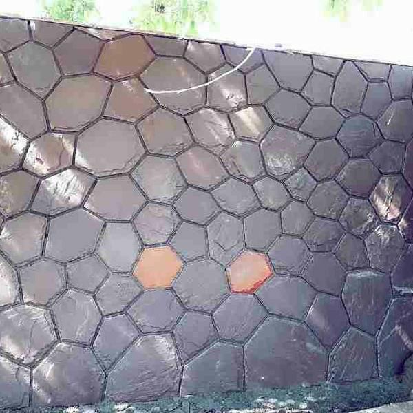 اجرای سنگ لاشه عزیزی نصب دیوار برش منظم