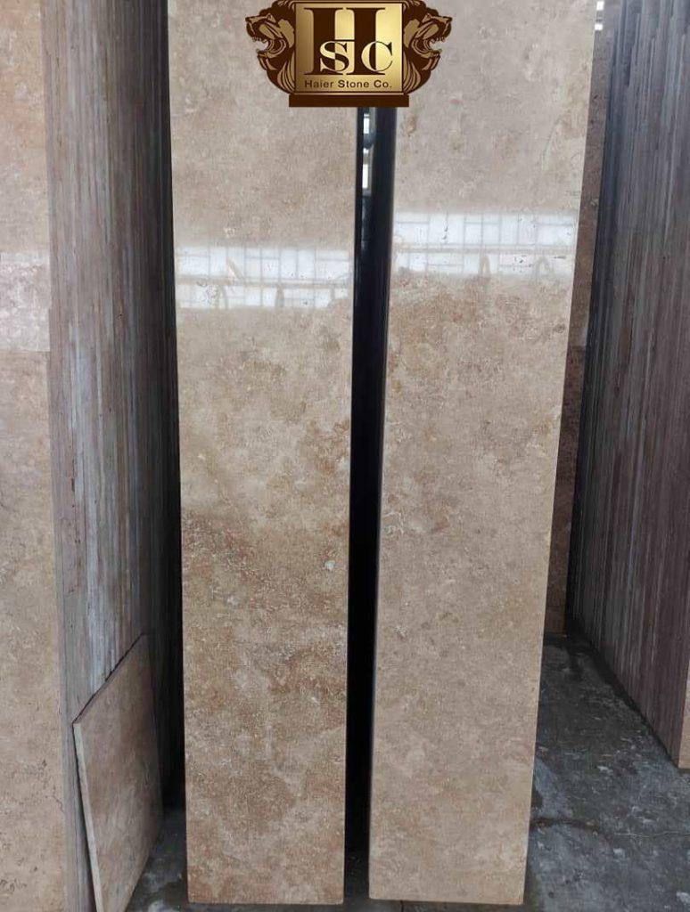 سنگ حایر تولید و فرآوری و فروش عمده سنگ تراورتن بژ