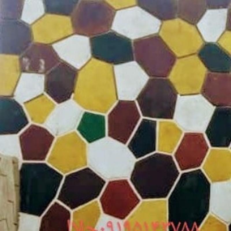 اجرای سنگ لاشه سنگ ورقه ای سنگ مالون با رنگ ای مختلف ۰۹۱۹۵۱۴۳۷۸۸